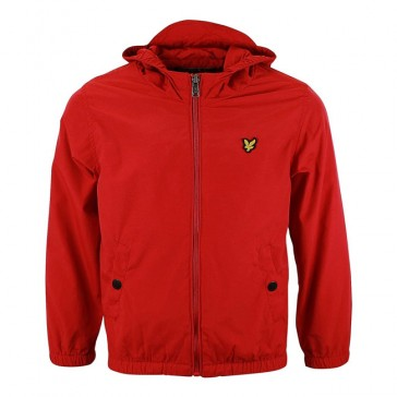 Lyle & Scott Boys Windcheater Zip Through Hooded Jacket - Royal Red