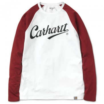 Carhartt L/S League T-Shirt - White/Alabama