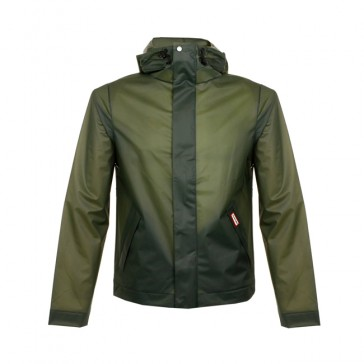 Hunter M Ori R Vinyl Windcheater - Dark Olive