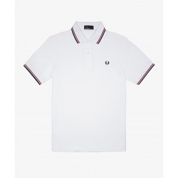 Fred Perry Men's Twin Tipped Polo Shirt - M1200 - 748 - White