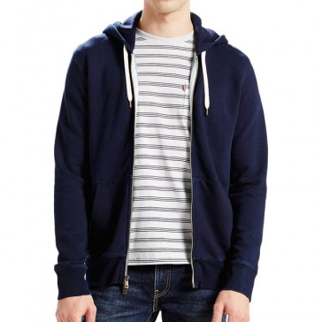 Levi's Original Zip Up Hoodie Indigo