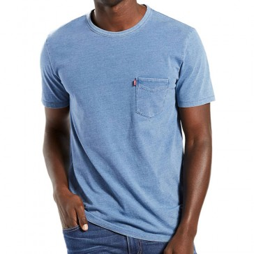 Sunset Pocket Tee Faded Indigo
