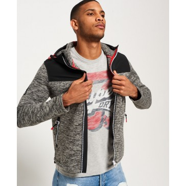 Superdry	Storm Mountain Zip Hoodie Charcoal Marl/anthracite Black