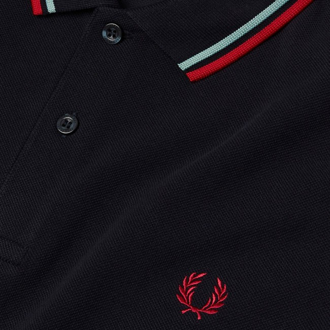 a49fa5f6 Fred Perry Twin Tipped Fred Perry Shirt - Navy/Mint/Terra