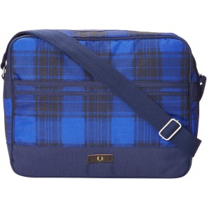 Fred Perry Check Nylon Shoulder Bag - Navy/Regal