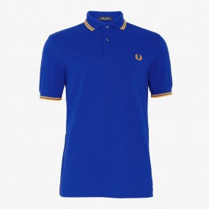 Fred Perry Twin Tipped Polo Shirt - Cobalt