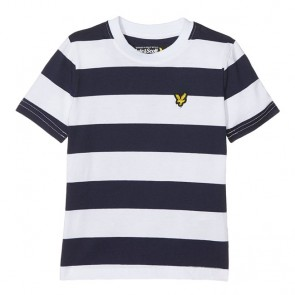Lyle & Scott  Boys Bold Stripe T-Shirt - Deep Indigo