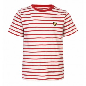 Lyle & Scott Boys Breton Stripe T-Shirt - Royal Red