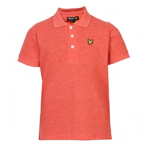 Lyle & Scott Boys Classic Marl Polo Shirt - Flash Orange Marl