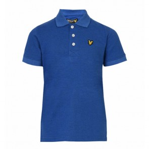 Lyle & Scott Boys Classic Marl Polo Shirt - True Blue Marl