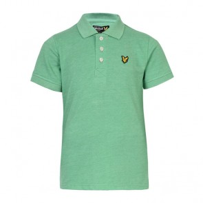Lyle & Scott Boys Classic Marl Polo Shirt - Green Sheen Marl