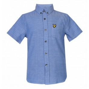 Lyle & Scott Boys Running Stitch Shirt - Blue