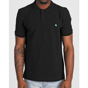 Carhartt S/S Slim Fit Polo - Black/Lime Green
