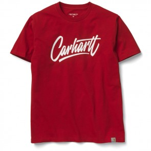 Carhartt Contract S/S T-Shirt - Red / White