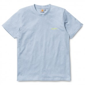 Carhartt Embroidery S / S T-Shirt - Ice Heather / Fluo Yellow