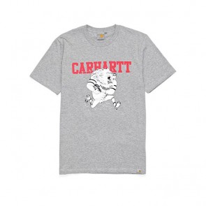 Carhartt	S/S Detroit Lion T-Shirt - Grey Heather/Multicolor