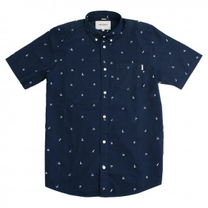 Carhartt S/S Economy Shirt - Duke Blue/White