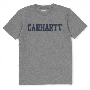 Carhartt S/S College T-Shirt - Dark Grey Heather/Duke Blue