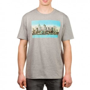 Carhartt S/S Detroit Skyline T-Shirt - Grey Heather/Multicolour