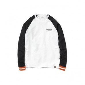 Carhartt L/S Riley T-Shirt - White/Black