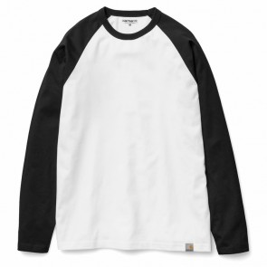 Carhartt L/S Dodgers T-Shirt I011351 - 105 White/Black