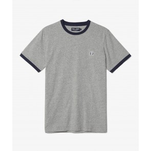 Fred Perry Men's Ringer T-Shirt - Steel Marl