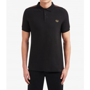 Fred Perry Taped Shoulder Polo Shirt - Black