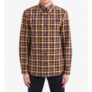 Fred Perry 5 Colour Gingham Shirt - Gold