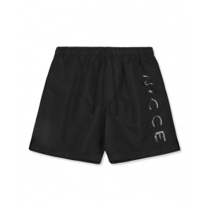 Nicce Logo Swim Shorts	Black