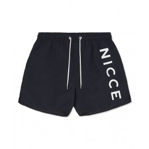 Nicce Logo Swim Shorts	Navy