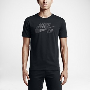 Nike SB Icon Reflective Men's T-Shirt 749630-Black