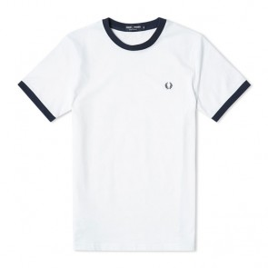 Fred Perry Ringer T-Shirt  - White