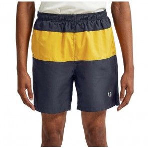 Fred Perry Panelled Swim Shorts - Navy