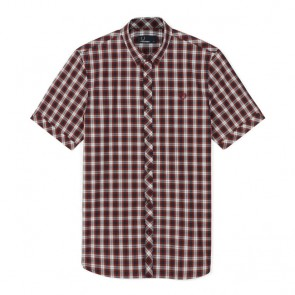 Fred Perry Summer Tartan Shirt  - Rosewood