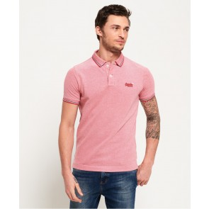 Superdry	Classic Poolside Pique Polo Shirt Red/white