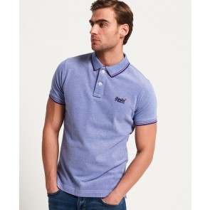 Superdry	Classic Poolside Pique Polo Shirt Royal/white