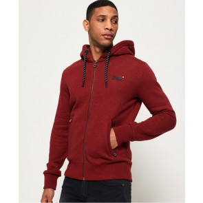 Superdry	Orange Label Hyper Pop Zip Hoodie Sonix Red Grit