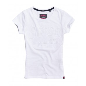 Superdry	Original Embossed T-Shirt Optic
