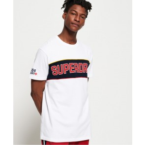 Superdry	Retro Stripe Box Fit T-Shirt Optic
