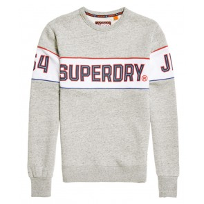 Superdry	Retro Stripe Crew Sweatshirt	Street Works Grit