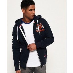 Superdry	Trackster Zip Hoodie Pitch Navy