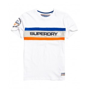 Superdry	Trophy Chest Band T-Shirt Optic