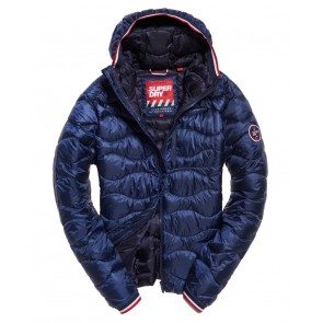 Superdry	Wave Quilt Hooded Jacket Navy