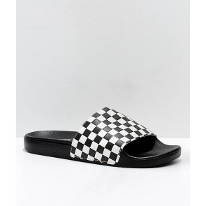 Vans Slide On Checker Checkboard White