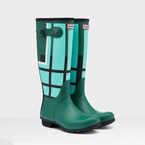 Hunter Original Tall Tartan Boot - Tourmaline Green
