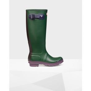 Hunters Unisex Original Contrast Boots WFT1000RCO - Forest Green